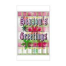 Season's Greetings Rectangle Decal