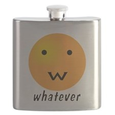Funny Whatever Smiley Flask