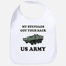 My Stepdads Gof Your Back US Army Bib
