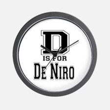 D is for De Niro Wall Clock