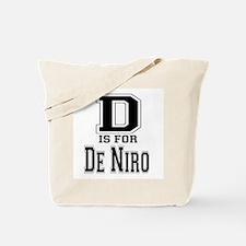 D is for De Niro Tote Bag