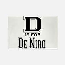D is for De Niro Rectangle Magnet