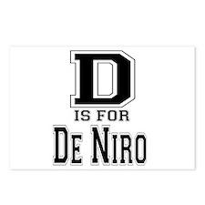 D is for De Niro Postcards (Package of 8)