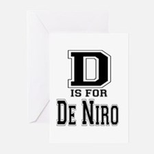 D is for De Niro Greeting Cards (Pk of 10)