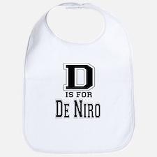 D is for De Niro Bib