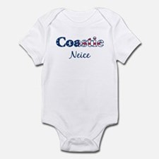 Coastie Neice (Patriotic) Infant Bodysuit