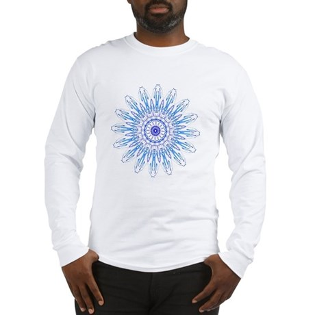 Ornament blue,white Long Sleeve T-Shirt