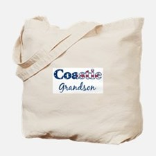 Coastie Grandson (Patriotic) Tote Bag