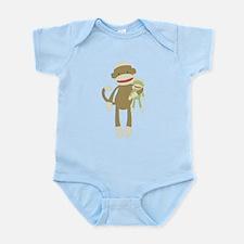Sock monkey with baby Infant Bodysuit