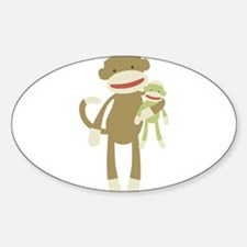 Sock monkey with baby Decal