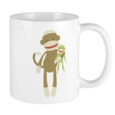 Sock monkey with baby Mug
