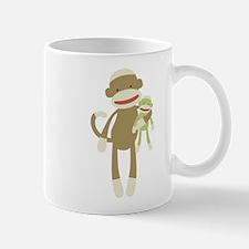 Sock monkey with baby Mug