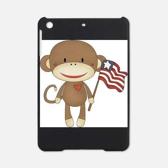 sock monkey with flag iPad Mini Case