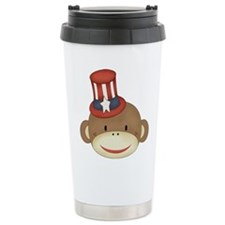 sock monkey with hat Travel Mug
