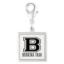 Burkina Faso Designs Silver Square Charm