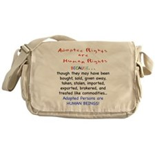 Adotee Rights are Human Rights Messenger Bag