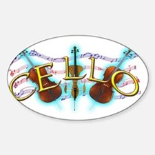 cello Sticker (Oval)