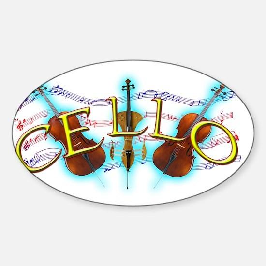 cello Sticker (Oval)