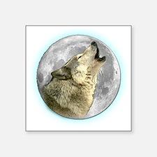 "Wolf Square Sticker 3"" x 3"""
