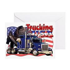 Trucking2 Greeting Card