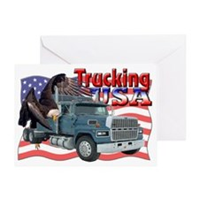 Trucking3 Greeting Card