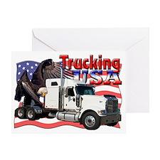 Trucking4 Greeting Card