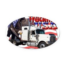 Trucking4 Oval Car Magnet