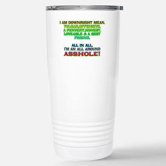 ass Stainless Steel Travel Mug