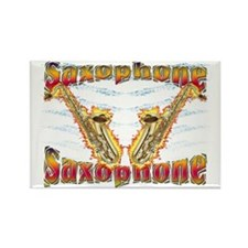 Saxophoneflames Rectangle Magnet