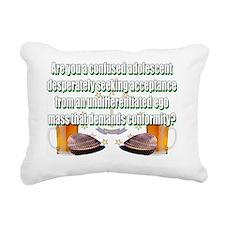 confused adolescent Rectangular Canvas Pillow