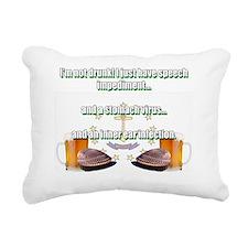 not drunk Rectangular Canvas Pillow