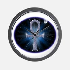 celestialwhitestars4 Wall Clock