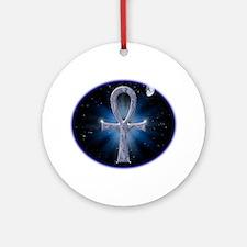 celestialwhitestars4 Round Ornament