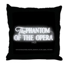 The Phantom of the Opera 1925 Throw Pillow