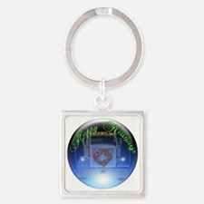 Ornament Square Keychain