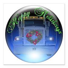"Ornament Square Car Magnet 3"" x 3"""