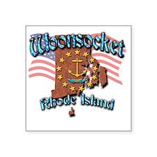 "Woonsocket Square Sticker 3"" x 3"""