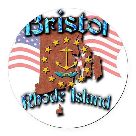 Bristol Round Car Magnet