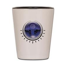 3-crystalball-wolves-blue Shot Glass