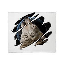 Seethru-wolf Throw Blanket