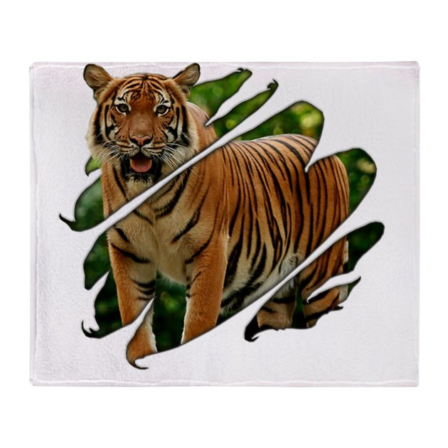 2-seethru-tiger Throw Blanket By Admin_CP6206939