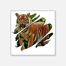 "2-seethru-tiger Square Sticker 3"" x 3"""