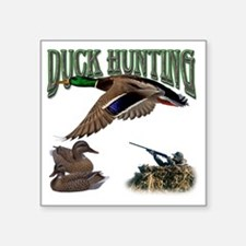 "Duck Hunting Square Sticker 3"" x 3"""