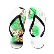 Saxophone wrap Flip Flops