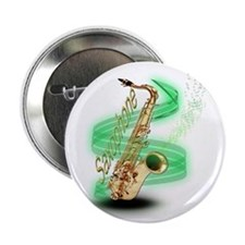 "Saxophone wrap 2.25"" Button"