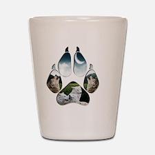 Wolf Print Shot Glass