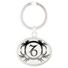 9 Oval Keychain
