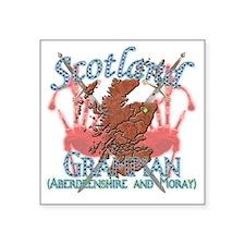 "2-Grampian (Aberdeenshire a Square Sticker 3"" x 3"""
