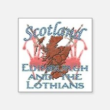 "2-Edinburgh and the Lothian Square Sticker 3"" x 3"""