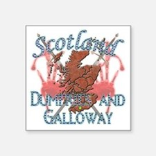 """2-Dumfries and Galloway Square Sticker 3"""" x 3"""""""